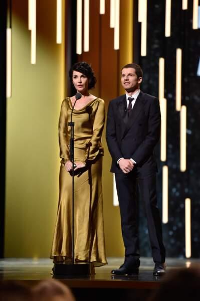 Zabou Breitman et Pierre Deladonchamps ont remis le César de la meilleure adaptation…