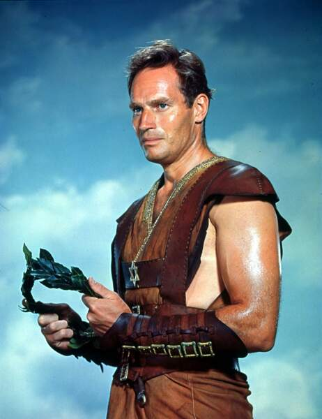 Charlton Heston, la peau luisante dans Ben Hur (1959)