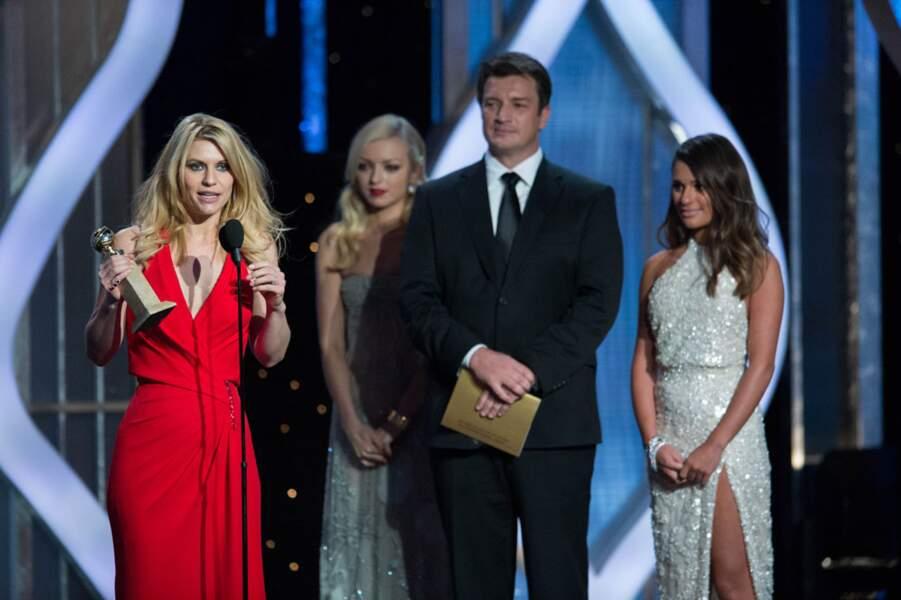 Homeland est sacrée meilleure série TV dramatique et Claire Danes meilleure actrice dans cette catégorie.