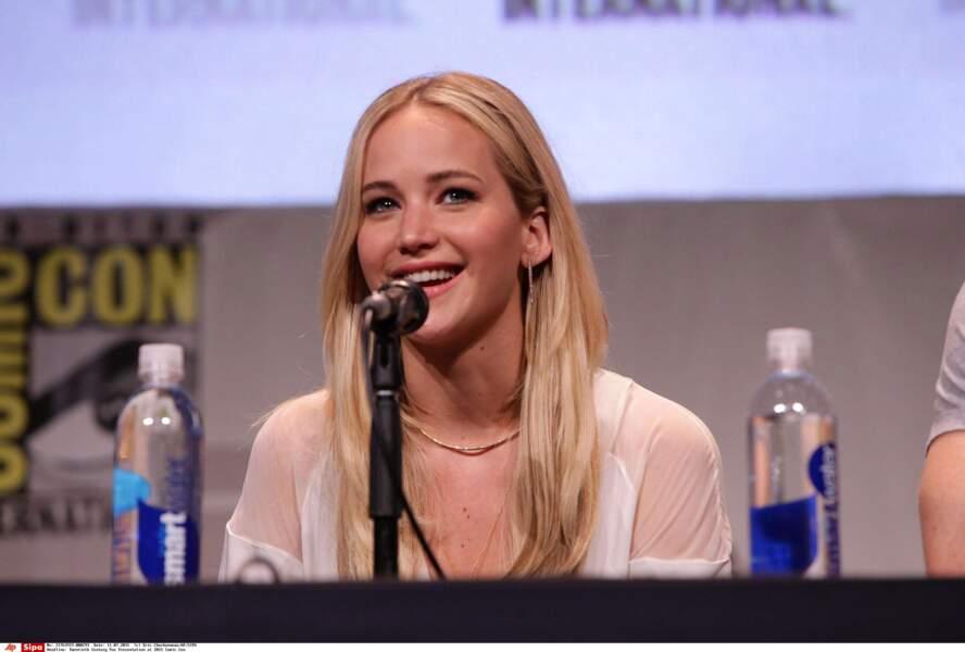Jennifer Lawrence, l'interprète de Mystique a l'air heureuse