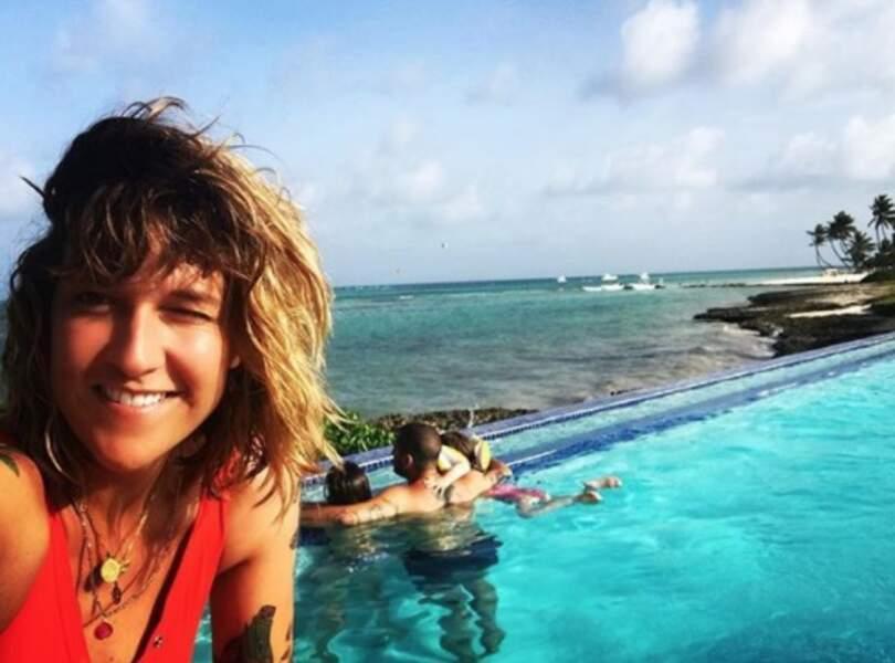 Daphné Bürki avait une superbe vue en famille à Punta Cana.