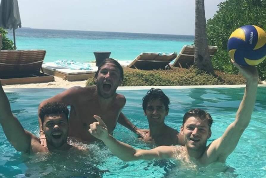 Pouille, Herbert, Tsonga mais aussi Goffin... les héros de la Coupe Davis s'éclatent ensemble aux Maldives
