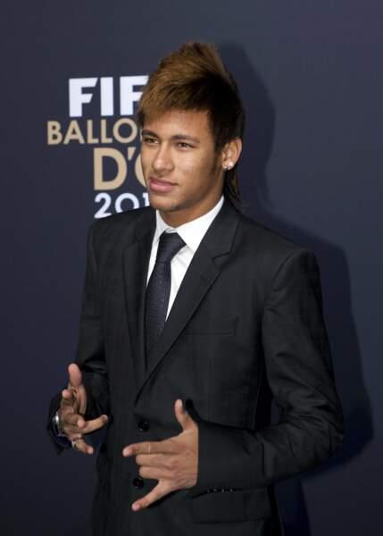 En cette soirée du Ballon d'or 2011, priorité à la sobriété pour Neymar