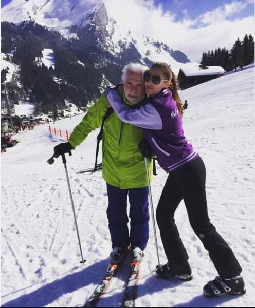 Vanessa Demouy a retrouvé son papa au ski