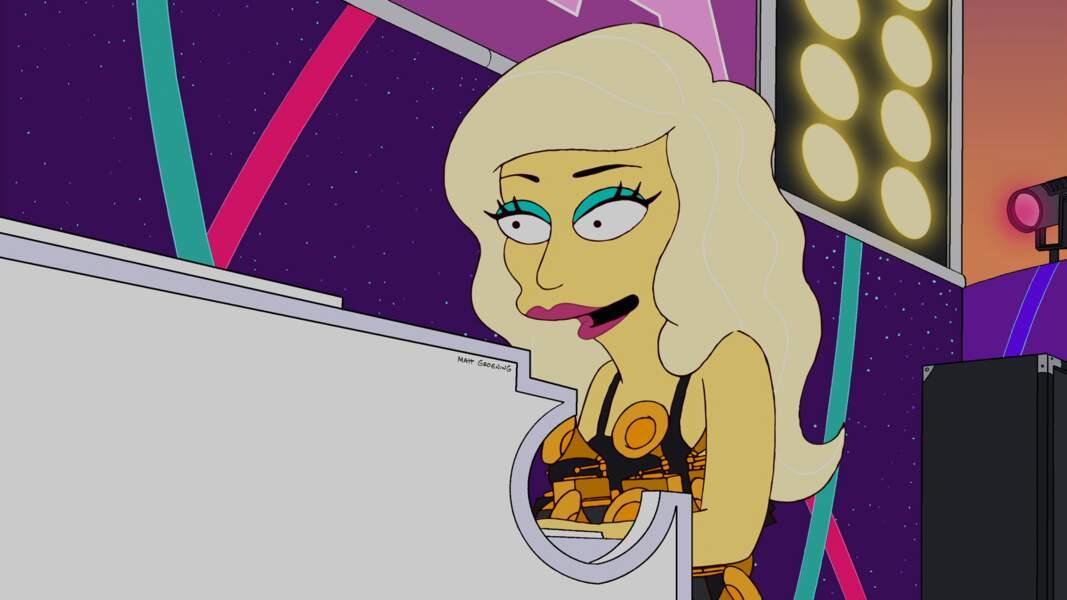 Elle a aussi donné de la voix dans la saison 23 des Simpson.