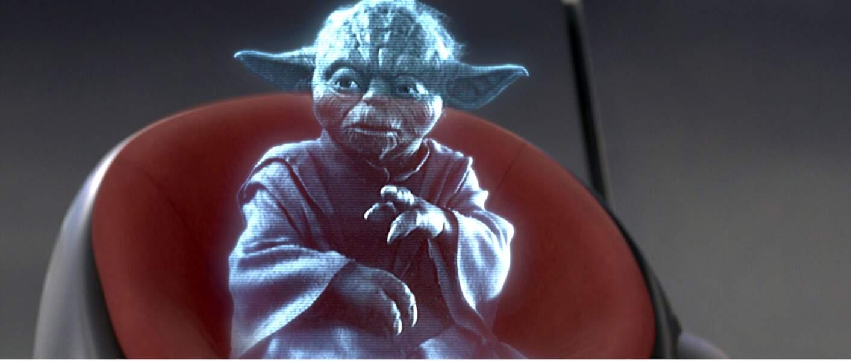 Et en mode hologramme dans La Revanche des Sith