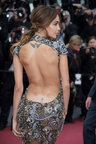 Et les photographes ne pouvaient pas manquer ses tatouages !