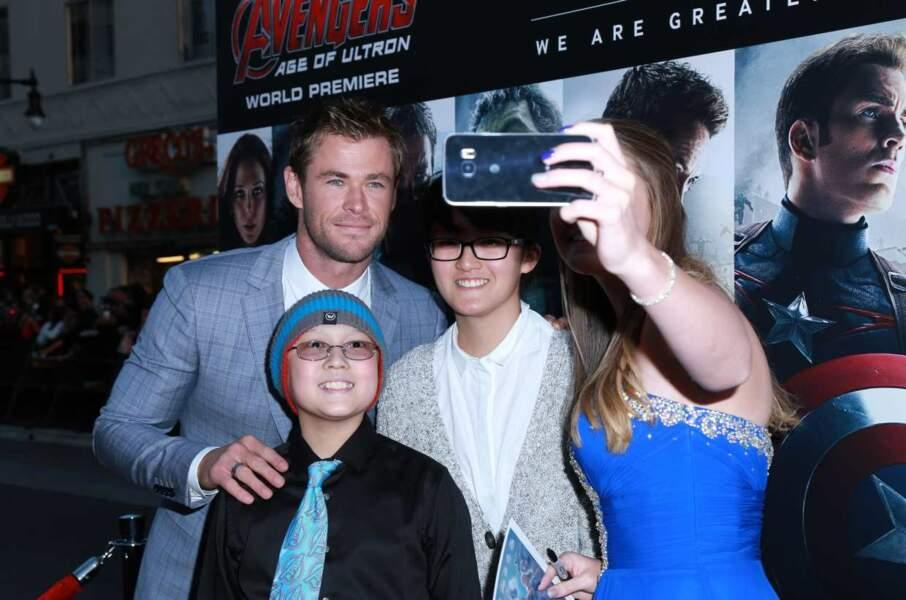 Et une petite dernière avec Chris Hemsworth.