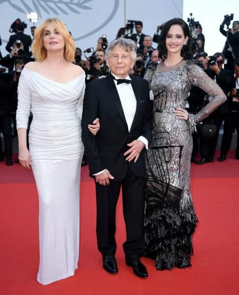 Trio gagnant ! Emmanuelle Seigner et son époux le cinéaste Roman Polanski ainsi qu'Eva Green