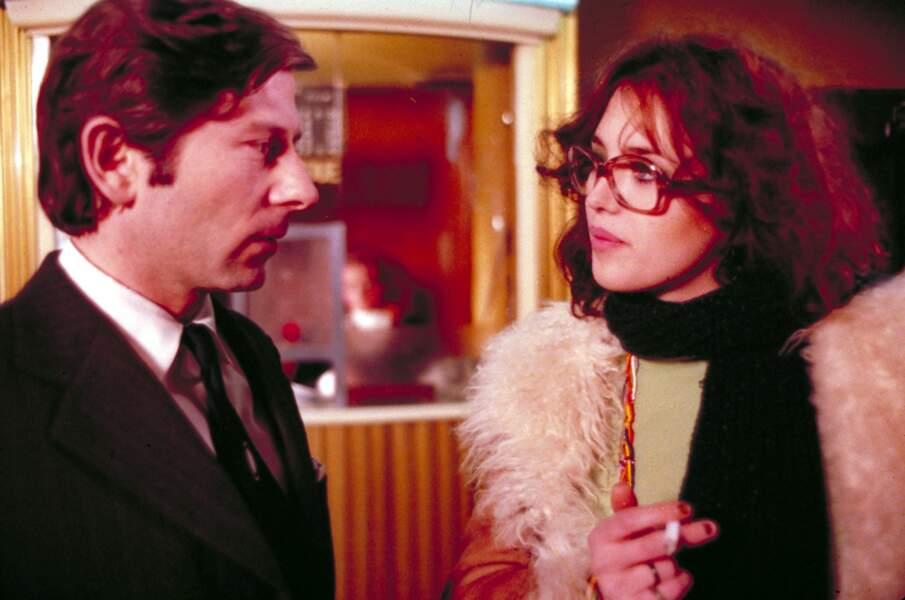Isabelle Adjani avec Roman Polanski dans Le locataire (1976).