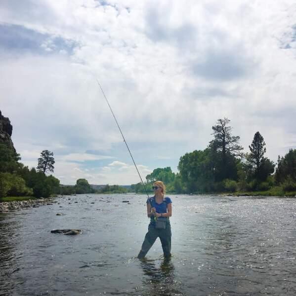 Karlie Kloss a fait un peu de pêche.
