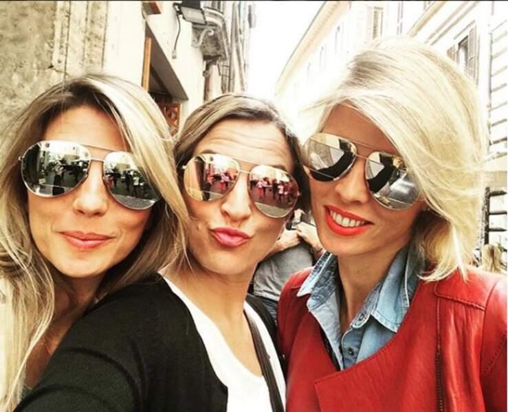 Sylvie Tellier avec deux de ses sœurs, Stéphanie et Anne-Sophie