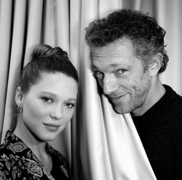 Nikos Aliagas a immortalisé Léa Seydoux et Vincent Cassel. Classe et stylé.