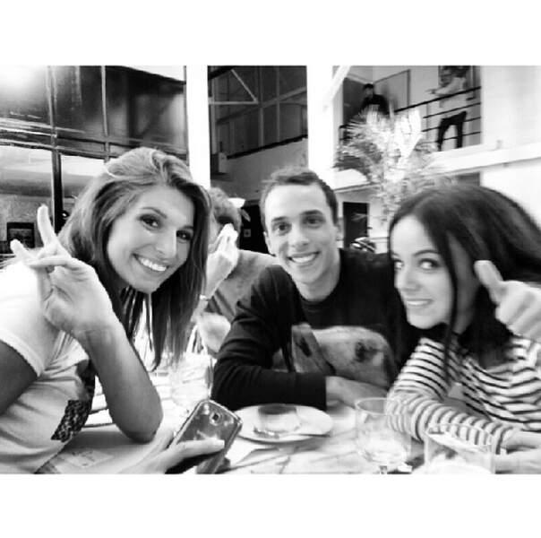 Pause déjeuner pour Laury Thilleman, Grégoire et sa partenaire Alizée