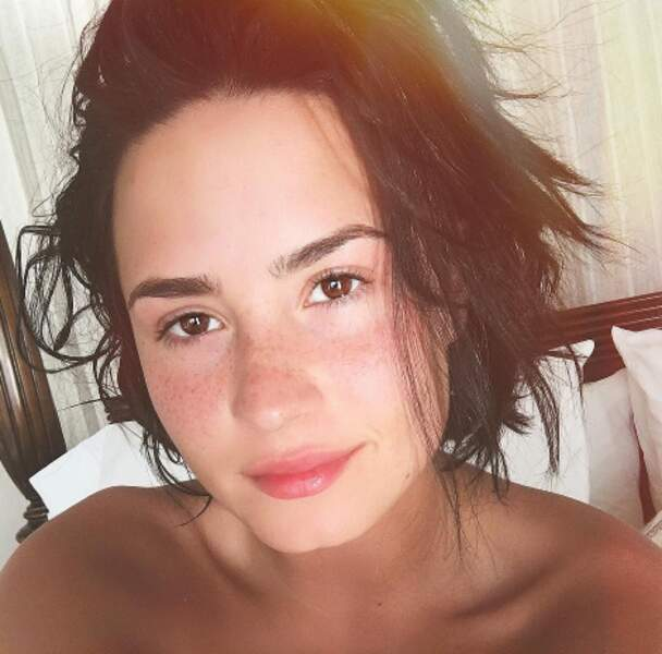 Demi Lovato sans maquillage