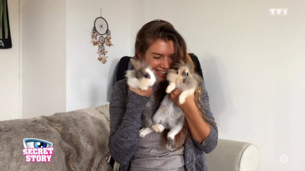 Maeva aime beaucoup les lapins