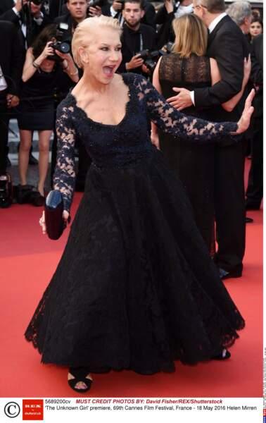 Helen Mirren a fait son show!