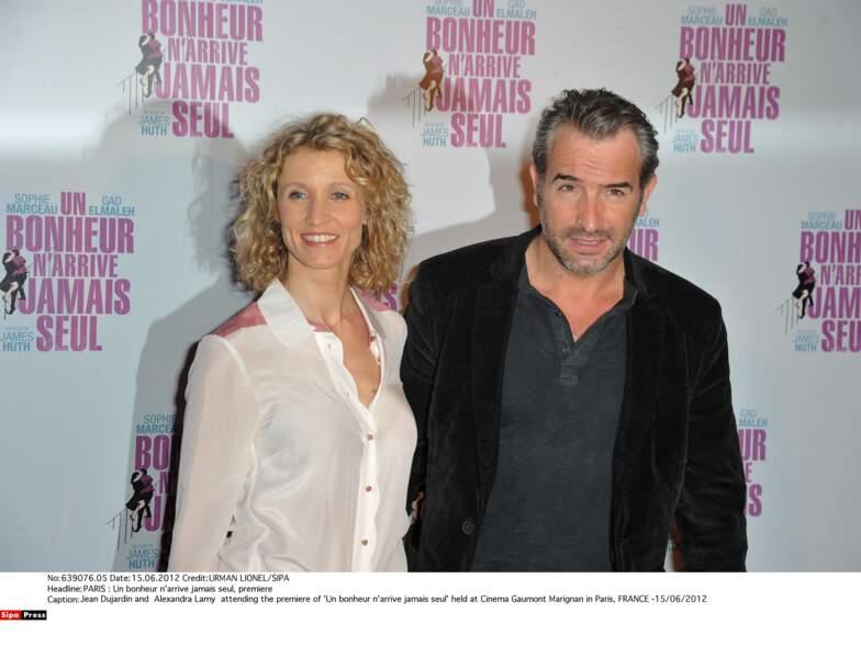 Alexandra Lamy et Jean Dujardin se sont rencontrés sur le plateau d'Un gars, une fille (France 2)