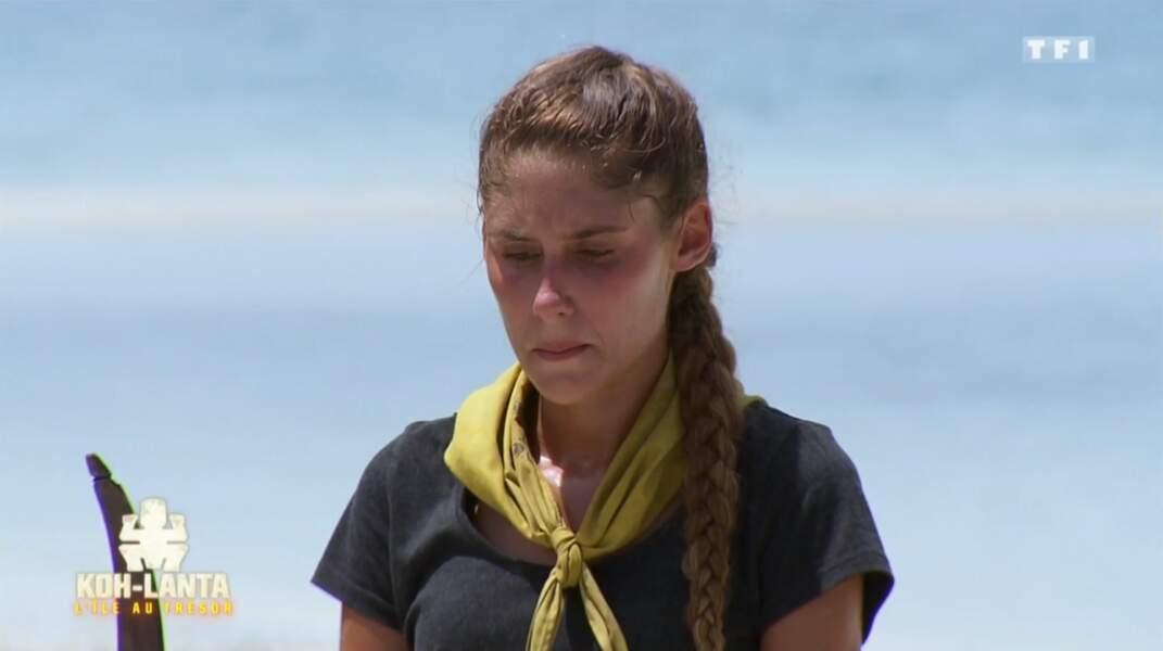 … même si elle se demande où sont passés ses quelques kilos perdus sur l'île !