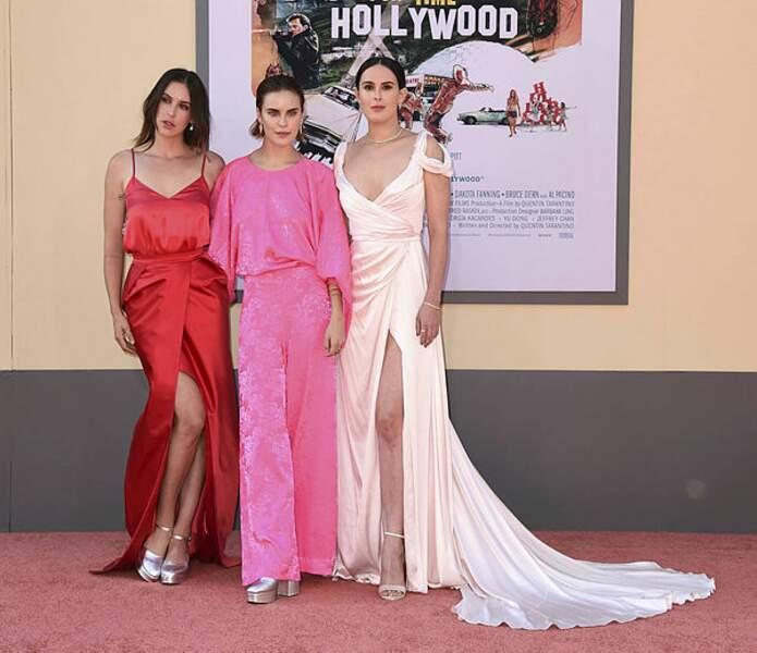 Les trois filles de Bruce Willis : Scout Larue Willis, Tallulah Belle Willis et Rumer Willis
