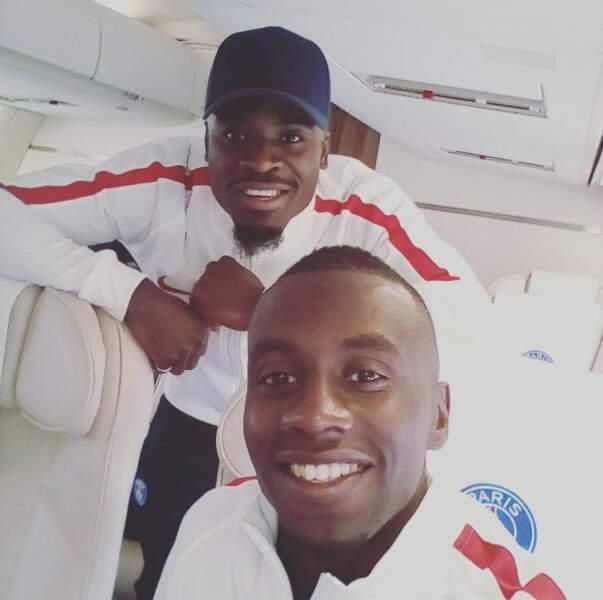 Serge Aurier et Blaise Matuidi sont trop contents d'aller en Autriche avec le PSG.
