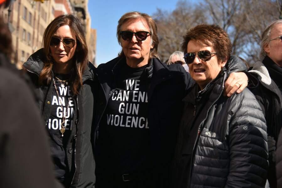 Sir Paul McCartney, Nancy Shevell et Billie Jean King