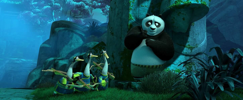 Po et ses amies les oies dans Kung-Fu Panda 3 (30/03)
