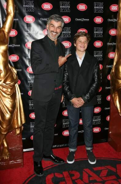 Francois Vincentelli est venu avec son fils Ange