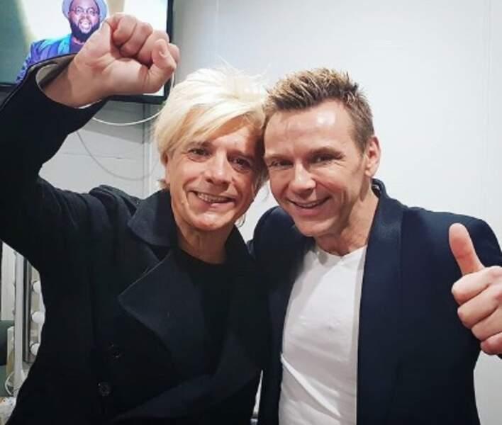 Deux blonds pour le prix d'un : Nicola Sirkis et Jeanfi Janssens.