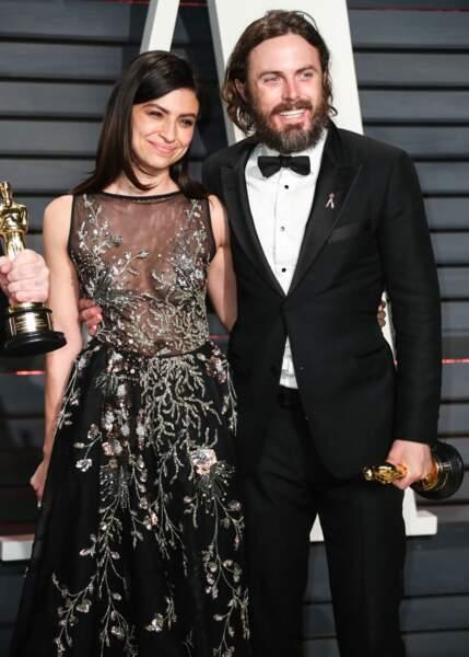 Les acteurs Floriana Lima et Casey Affleck.