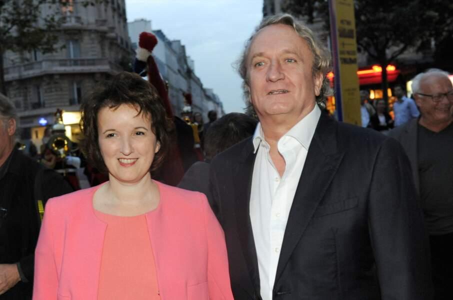 L'humoriste Anne Roumanoff et Philippe Vaillant, mariés depuis 2014.