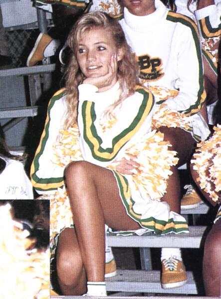 Cameron Diaz, pom pom girl en 1988