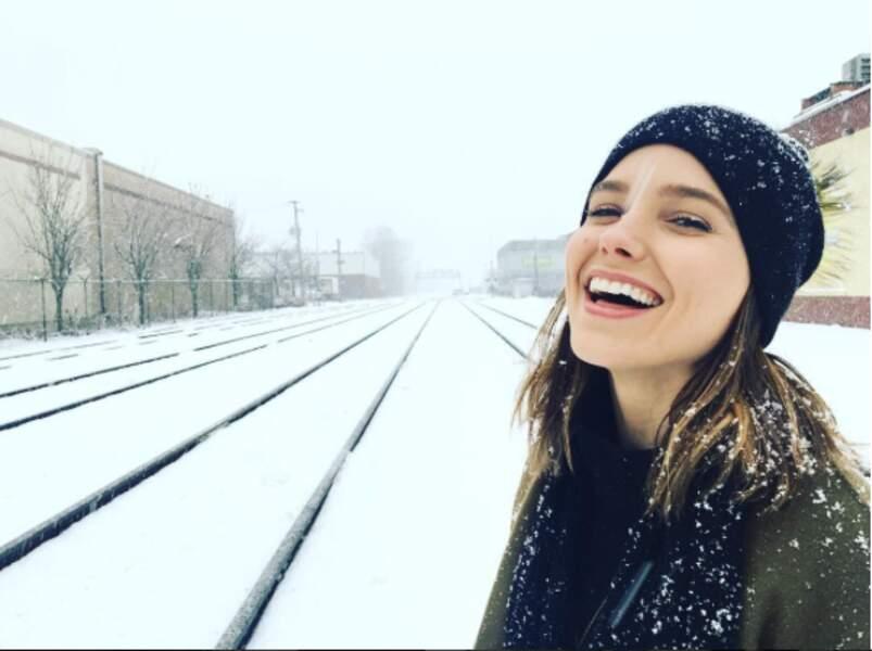 A Chicago, sous une tempête de neige !