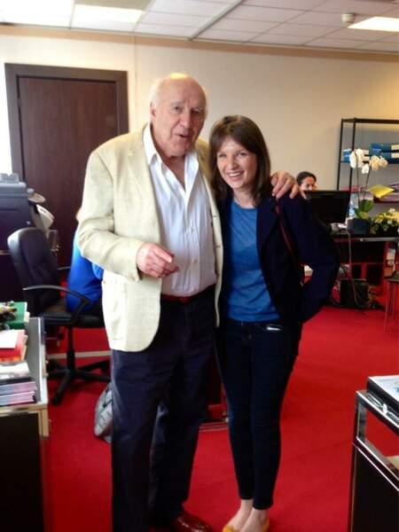 Gilles Jacob se prend lui-aussi pour un paparazzi avec Michel Piccoli et sa fille