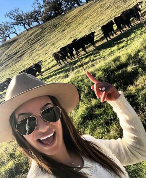 ... et Lea Michele se sont fait des copains en bord de route.