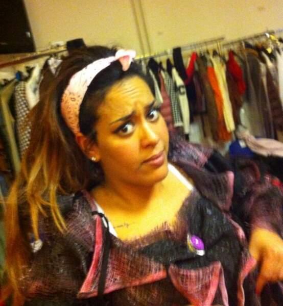 Amel Bent dans les coulisses des Enfoirés 2014