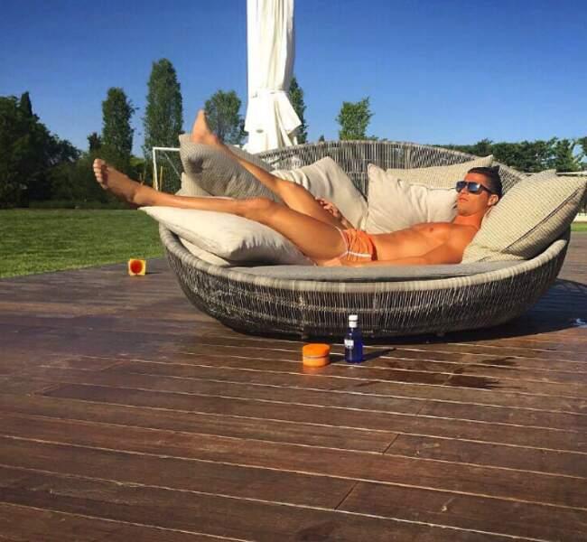 Et Cristiano Ronaldo au soleil.