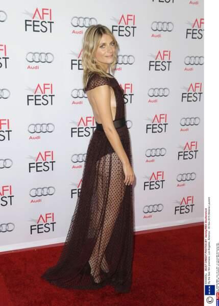 Mélanie Laurent, adepte des longues robes très transparentes