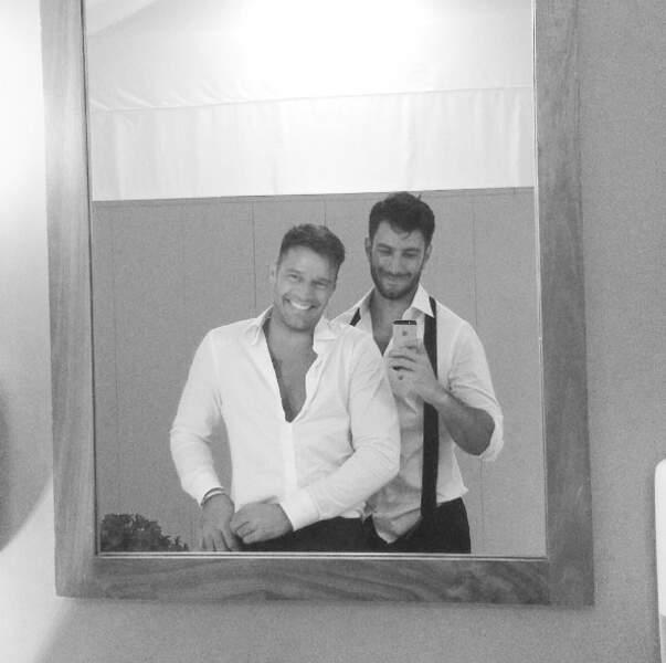 Ricky Martin posait avec son amoureux, Jwan Yosef.