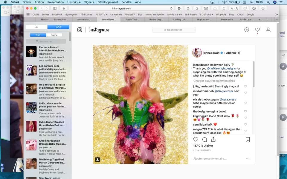 Costume féérique pour la Supergirl Jenna Dewan
