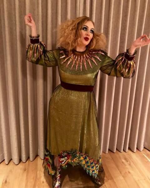 La chanteuse Adele s'est déguisée aussi