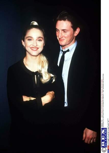 Sean Penn et son ex-femme Madonna beaux et jeunes en 1989. Quel couple !