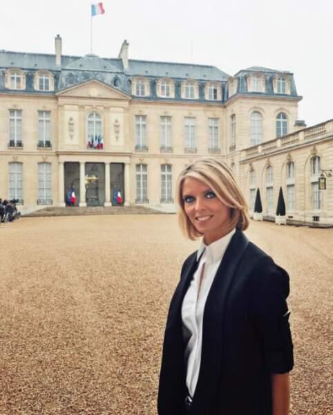 Sylvie Tellier en visite à l'Elysée...