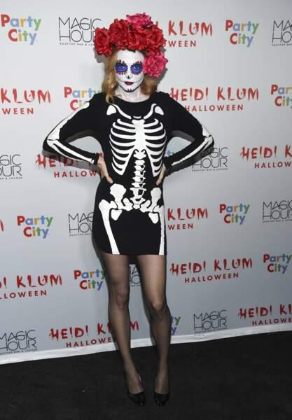 Tout comme Heather Graham, déguisée en Catrina mexicaine