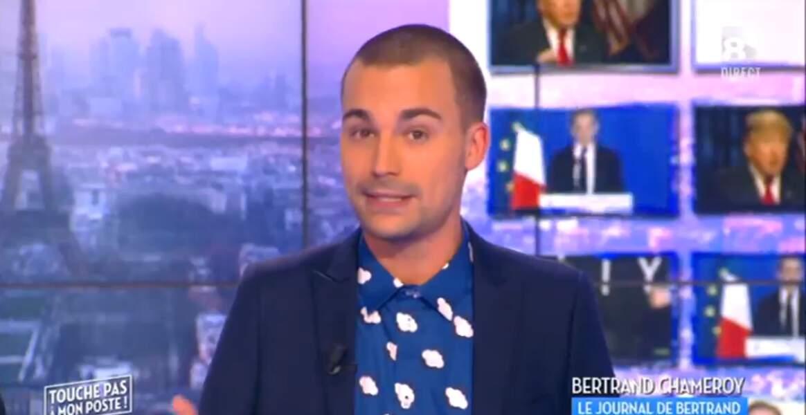 """Drôle, la chemise """"nuages"""" de Bertrand Chameroy…"""