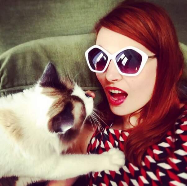 Elodie aime les animaux... qui le lui rendent bien !