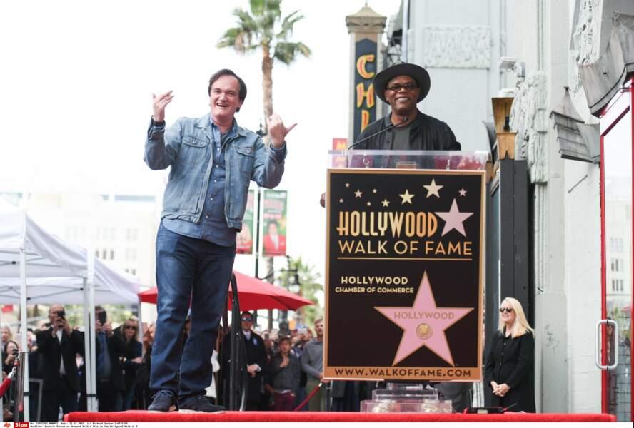Pour inaugurer son étoile, Quentin Tarantino a pu compter sur la présence de son ami Samuel L.Jackson...
