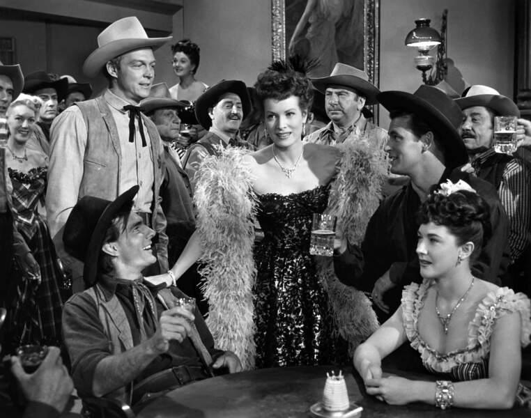 Jeanne fait ses débuts au cinéma dans La belle rousse du Wyoming (1953).