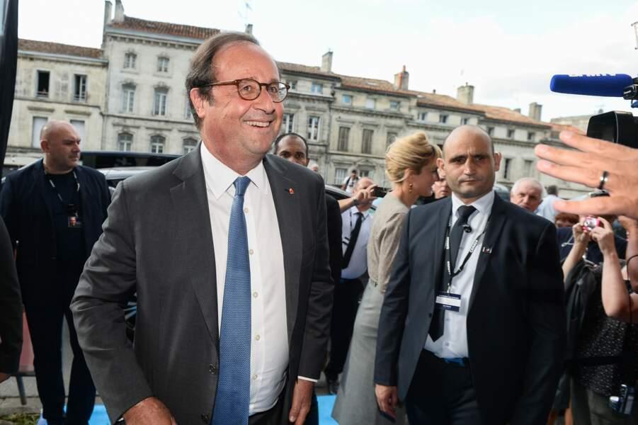 François Hollande tout sourire hier à Angoulême