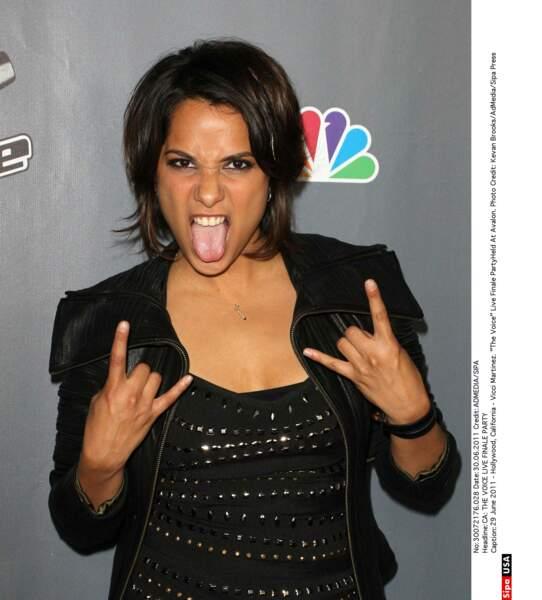 Voici à quoi ressemblait l'actrice et chanteuse Vicci Martinez, quand elle a participé à The Voice aux Etats-Unis